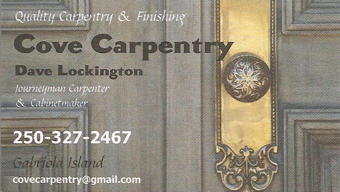 Cove Carpentry
