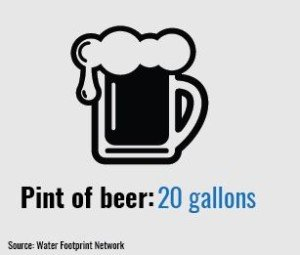 20 gallons pint of beer