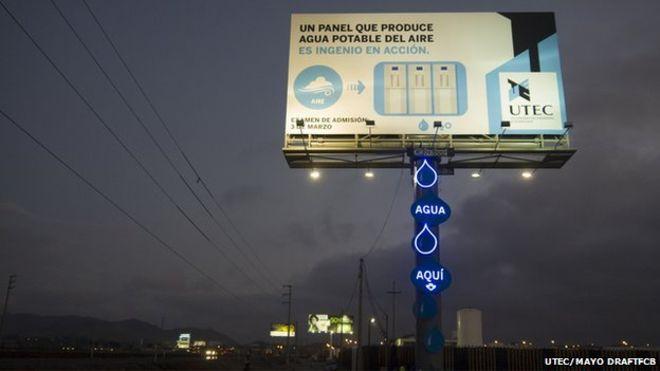 water billboard sign