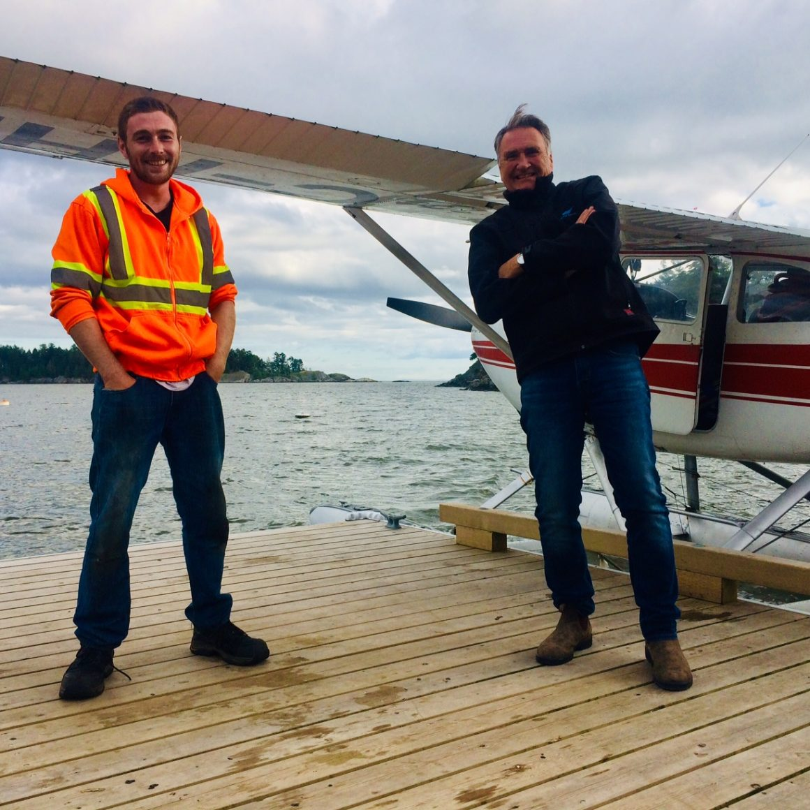 Kaman flying with Randy to Pasley Island